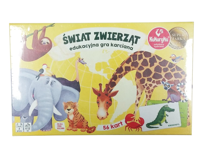 Świat zwierząt - edukacyjna gra karciana (64244)