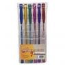 Długopis gel metalic 6 sztuk NOSTER
