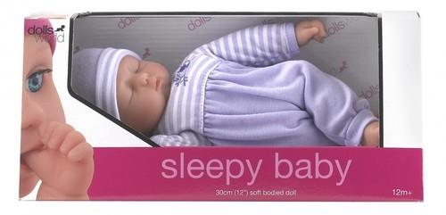 Lalka bobas 30 cm Sleepy baby