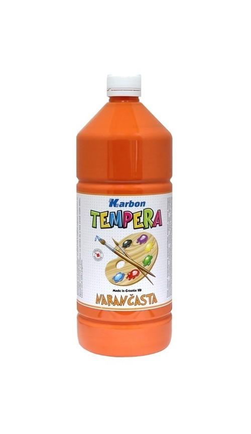Farba tempera w butelce 1l. pomarańczowa Karbon