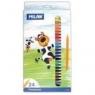 Kredki Plastipastel 24 kolory op. kartonowe MILAN