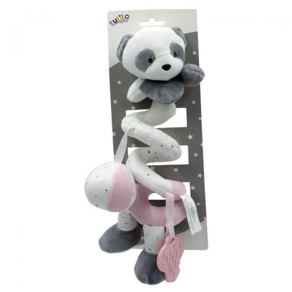 Sprężynka pluszowa New baby różowa 25 cm (5141a)