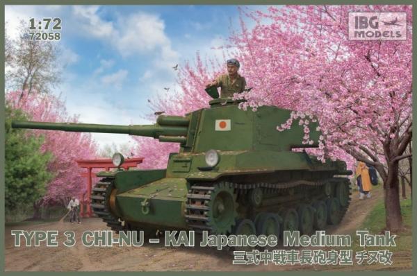 Model plastikowy Typ 3 Chi-Nu-Kai japoński czołg średni (72058)