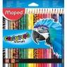 Kredki trójkątne Color'Peps Animal - 24 kolory (MPD-832224)