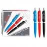Długopis automatyczny z wymiennym niebieskim wkładem 0,7mm Starpak (292788)