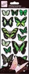 Naklejki przestrzenne Anitas. Zielone motyle