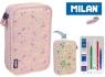 Piórniki MILAN 2-poziomowy z wyposażeniem BERRYWOOD róż081264BP