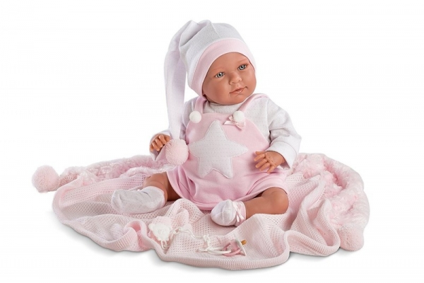 Śmiejąca się Oliwia w różowej piżamie (74024)
