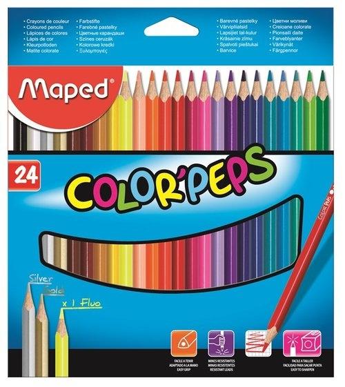 Kredki Colorpeps trójkątne 24 sztuki