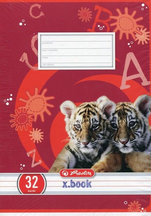 Zeszyt A5 Animals w trzy linie 32 kartki linia dwukolorowa 10 sztuk