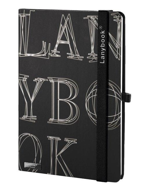 Notes A6 Lanybook LYO Reflex w linie czarny z czarną gumką