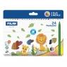 Kredki świecowe MILAN PLASTIPASTEL, 24 kolory w kartonowym opakowaniu (022R24)
