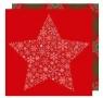 Serwetki 33/3/20 Śnieżna gwiazda czerwona