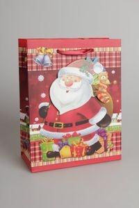 Torebka Świąteczna Z Okienkiem Pionowa Średnia - mix wzorów (602824)