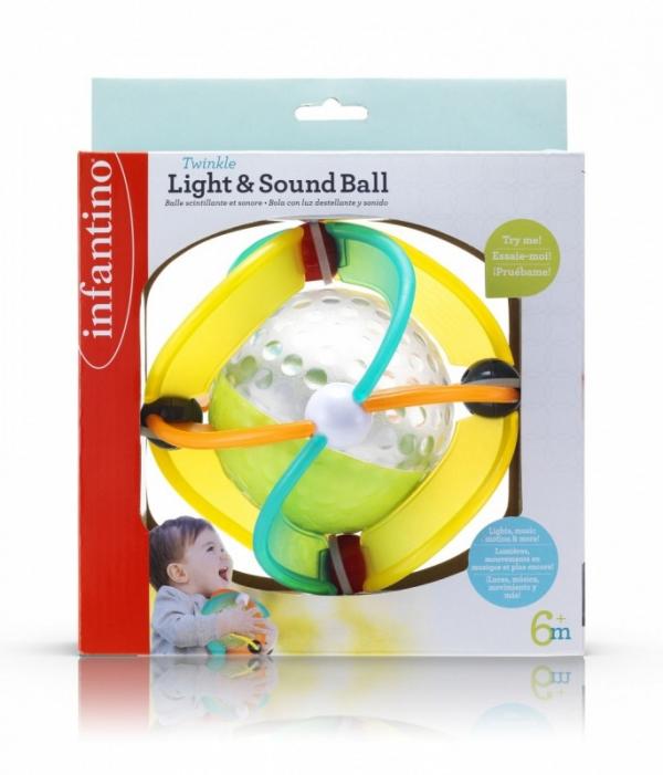 Infantino Gumowa piłka światełka, dźwięk (150306104)