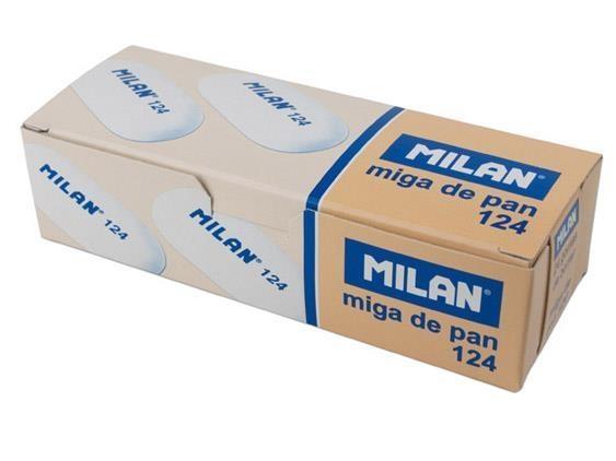 Gumka syntetyczna owalna 124 MILAN, 24 szt. - 3 kolory
