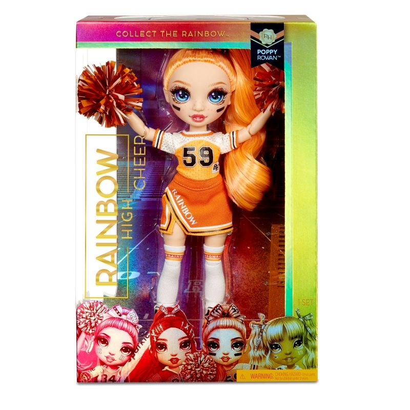 Rainbow High: Lalka Poppy Rowan - Cheerleaderka (572558EUC/572046)