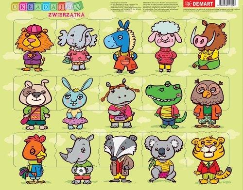 Puzzle ramkowe - Zwierzątka