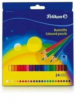 Kredki drewniane K 24 kolory BL