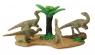 Figurki dinozaurów + drzewo