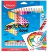 Kredki trójkątne Color'Peps Oops ścieralne z gumką, 24 kolory (MPD-832824)