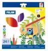 Kredki ołówkowe Milan 211 sześciokątne, 24 kolory w kartonowym opakowaniu (80024)