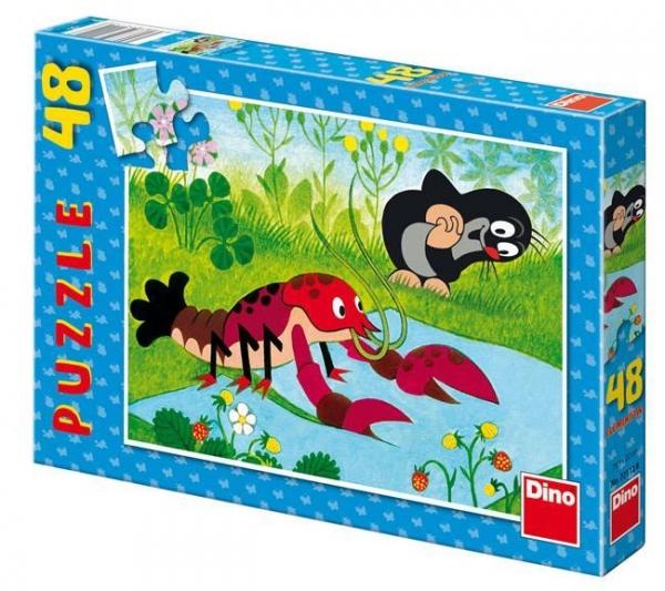 Puzzle 48 Krecik i rak szyją spodnie DINO