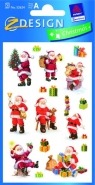 Naklejki świąteczne błyszczące - Mikołaje