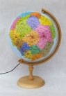 Globus mapa Polski administracyjno-fizyczna, podświetlany