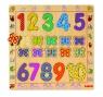 Drewniane cyfry i motyle na planszy (DJ01801)