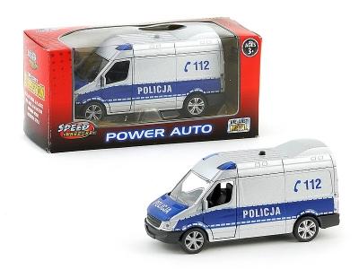 Auto Policyjne ze światłem  - metalowe, 11.5 cm długości