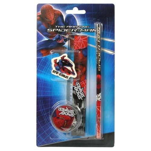 Zestaw przyborów szkolnych Amazing Spider-Man 4 części