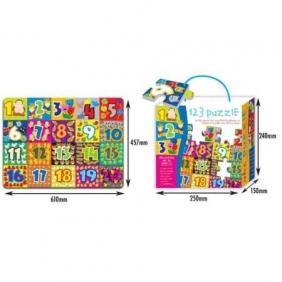 Mata z puzzli - cyferki, 24 elementy