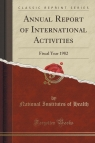 Annual Report of International Activities