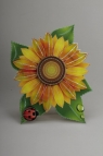 Naklejka dekoracyjna 3D duża kwiat