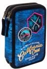 Coolpack - Jumper 2 - Piórnik podwójny z wyposażeniem - Blue (Badges G)