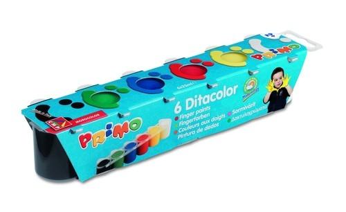 Farby do malowania palcami Primo 6 kolorów 25 ml