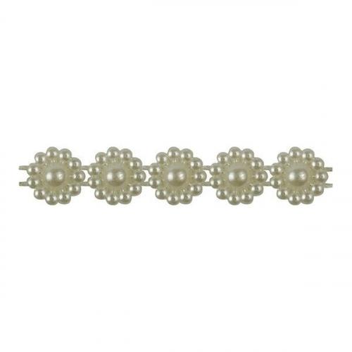 Sznurek perełek 10m - Kremowy (373239)