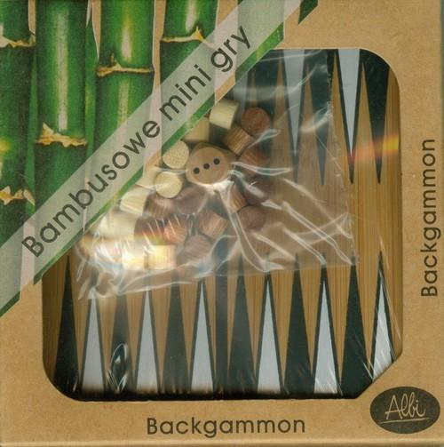 Bambusowe mini gry Backgammon