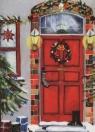 Karnet świąteczny Drzwi