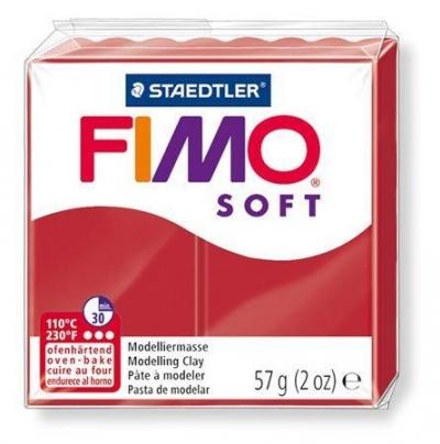 Fimo soft masa termoutwardzalna - czerwień świąteczna (8020-2P)