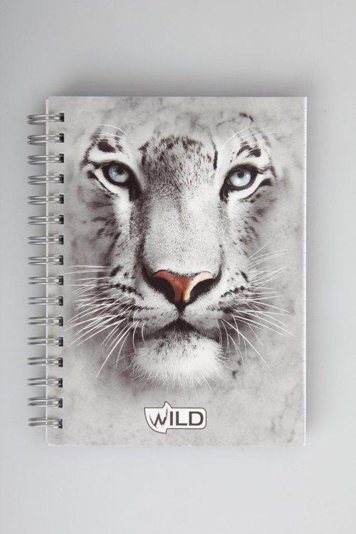 Kołonotes na spirali A6 Wild w katkę 100 kartek