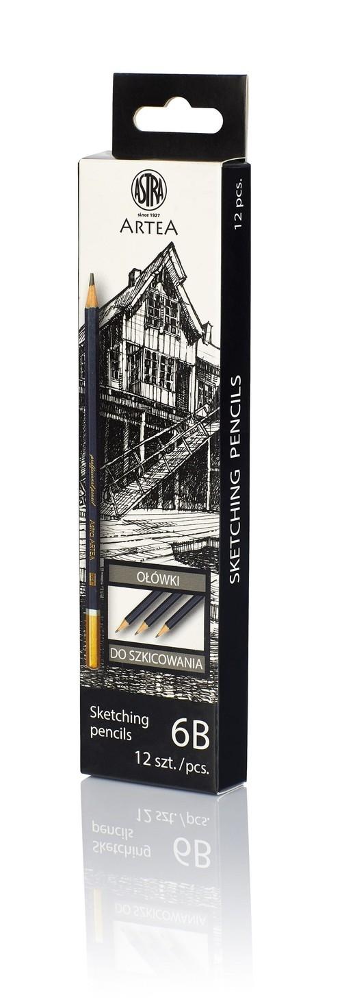 Ołówek do szkicowania 6B Artea 12 sztuk