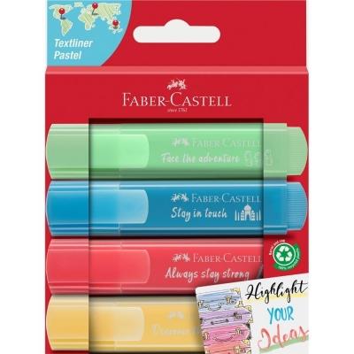 Zakreślacz pastelowy 4 kolory FABER CASTELL