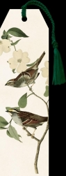 Zakładka 25 ze wstążką Ptak na gałęzi