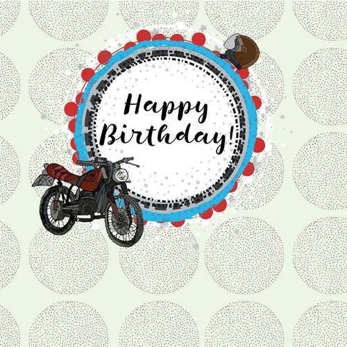 Karnet Swarovski kwadrat Urodziny motor
