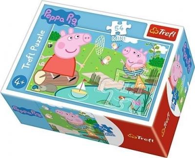 Puzzle mini 54: Wesoły dzień Świnki Peppy 1 (Zgnieciony kartonik)