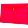 Teczka/koperta plastikowa na guzik Tetis A4 - czerwona (BT611-C)