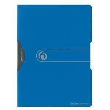 Skoroszyt A4 PP z zaciskiem niebieski Easy