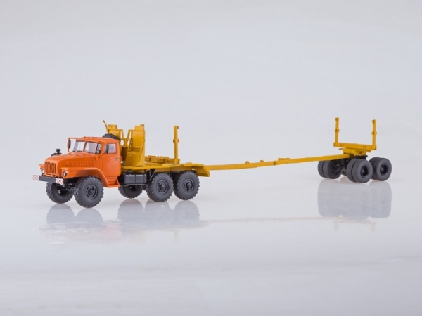 URAL-43204-10 Logging Truck (orange) (SSM1225)